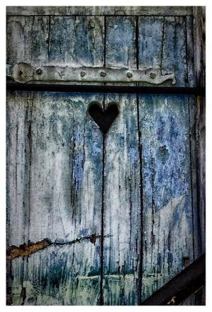 Wooden door heart