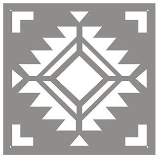 Navajo Four Corners Tile Stencil