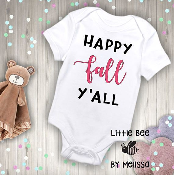 Happy Fall, Yall | bodysuit. When ordering secondary color is for fall. If youd prefer the entire text to be one color, please leave a message when ordering. ⚫️🐝⚫️🐝⚫️🐝⚫️🐝⚫️🐝⚫️🐝⚫️🐝⚫️🐝⚫️🐝⚫️🐝⚫️🐝⚫️🐝⚫️🐝⚫️🐝⚫️🐝⚫️🐝⚫️  All onesies are Gerber brand and are available in; Newborn 0-3 months 3-6 months 6-9 months 12 months 18 months 24 months ⚫️🐝⚫️🐝⚫️🐝⚫️🐝⚫️🐝⚫️🐝⚫️🐝⚫️🐝⚫️🐝⚫️🐝⚫️🐝⚫️🐝⚫️🐝⚫️🐝⚫️🐝⚫️🐝⚫️  Onesies are 100% cotton. If youre unsure of exact size, its best to size up…