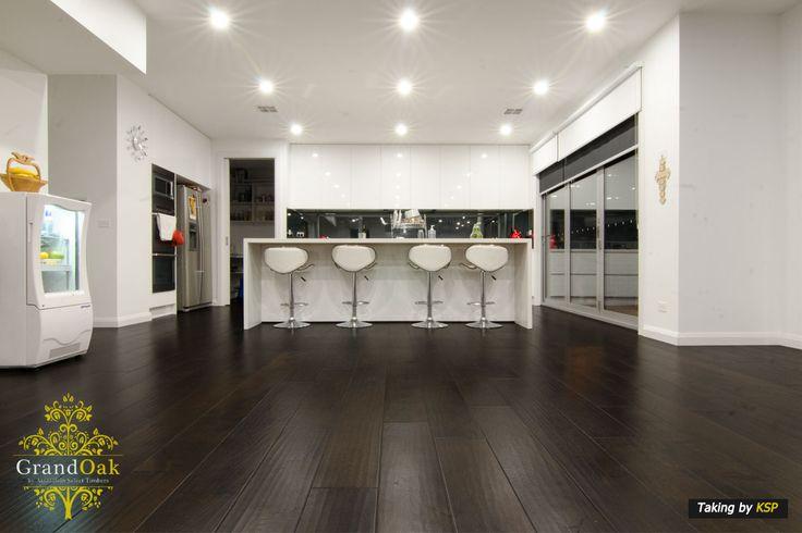 Grand Oak Timber Flooring: Burnt Oak Bar