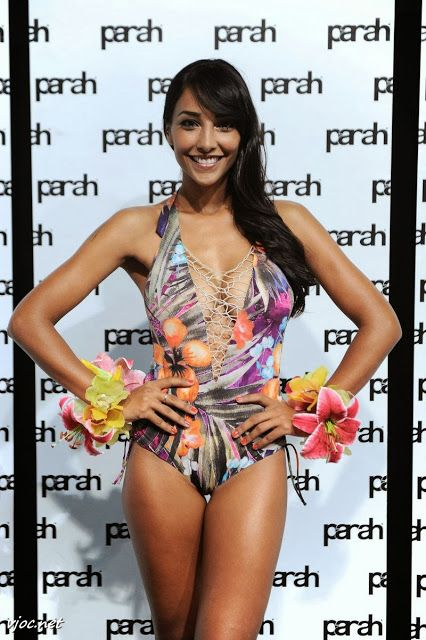Juliana Moreira Models a Swimsuit