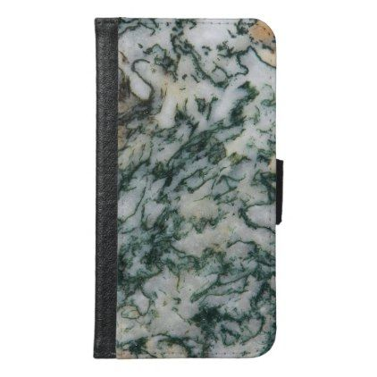Green Tree Agate Pattern Wallet Phone Case For Samsung Galaxy S6 -nature diy customize sprecial design