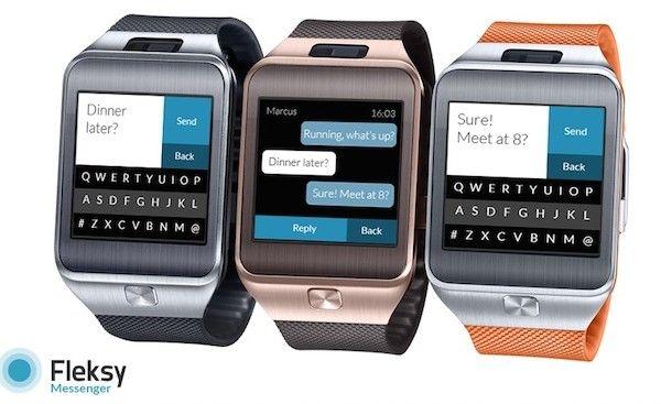 Fleksy Brings Predictive Messaging to Samsung's Gear 2 Smartwatch | Samsung Gear 2 Smartwatch: http://futuristicshop.com/samsung-gear-2-smartwatch-metallic-orange/ | Samsung Gear 2 Neo Smartwatch: http://futuristicshop.com/samsung-gear-2-neo-smartwatch-orange/