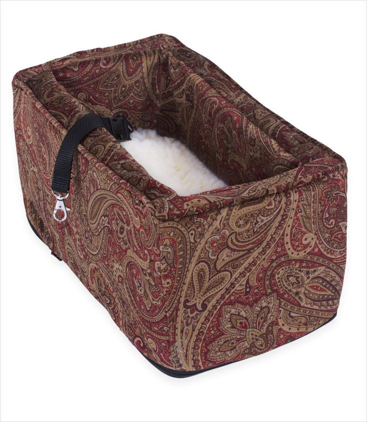 Console Dog Car Seat for small dogs. Luxury pet car seat Console Lookouts have matching trim and strap to your auto console and secure to floor seatbelt anchors. Video shows you how to install.