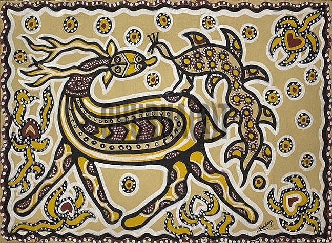 A Sohrai Painting | Art, Tribal art, Painting
