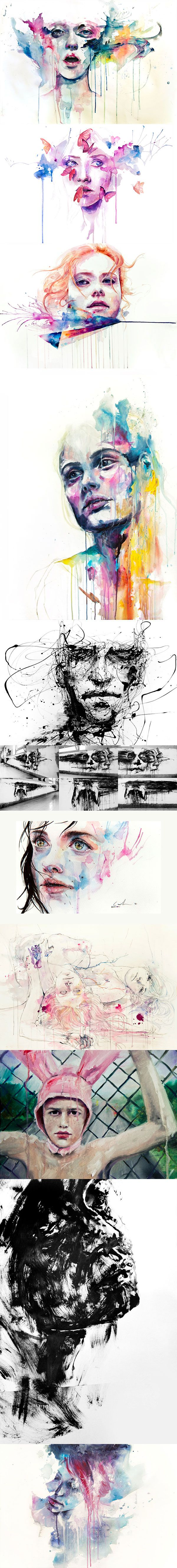 These are most of her amazing art work... Hope mine will be as good as hers some day. agnes cecile