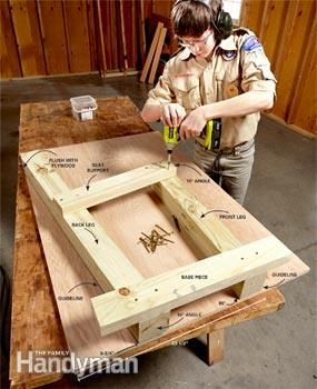 How to Build a Campfire Bench | The Family Handyman
