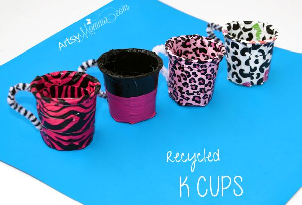 Looking for a way to reuse all those k cups? Make pretend play teacups as a fun k cup craft for the kiddos!