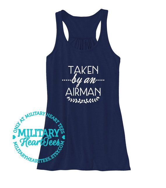 Taken by an Airman Air Force Racerback Tank by MilitaryHeartTees