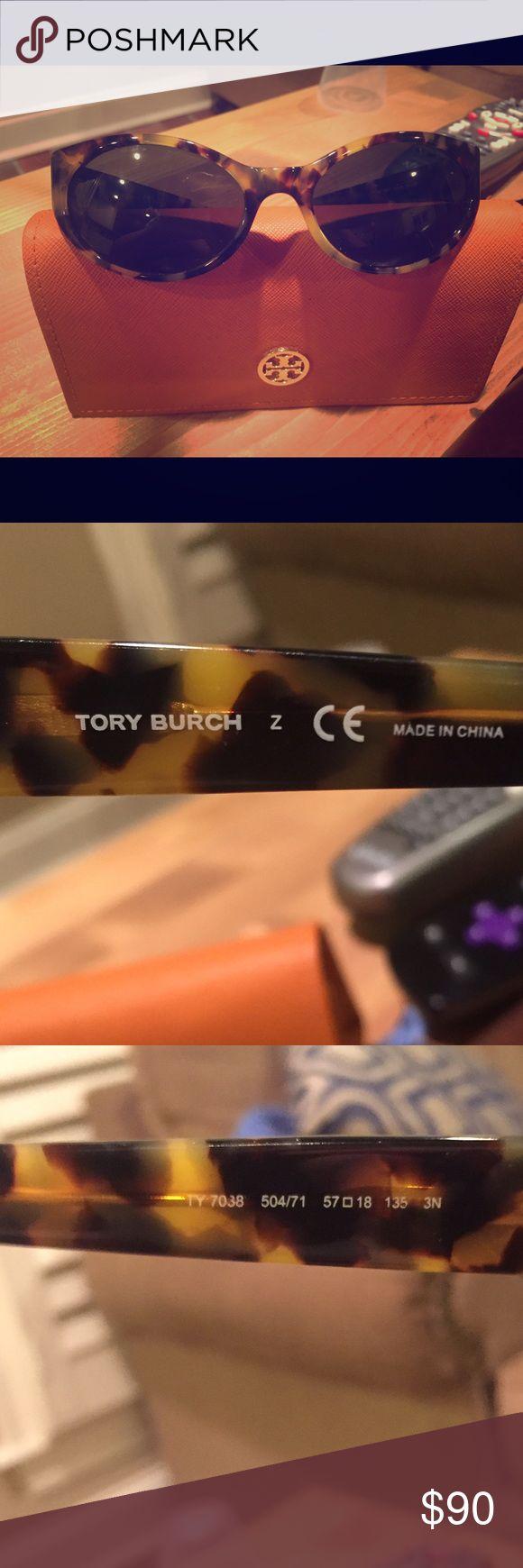 Tory Burch Sunglasses and Case Tory Burch Tortoise Shell Sunglasses with case! Tory Burch Accessories Sunglasses