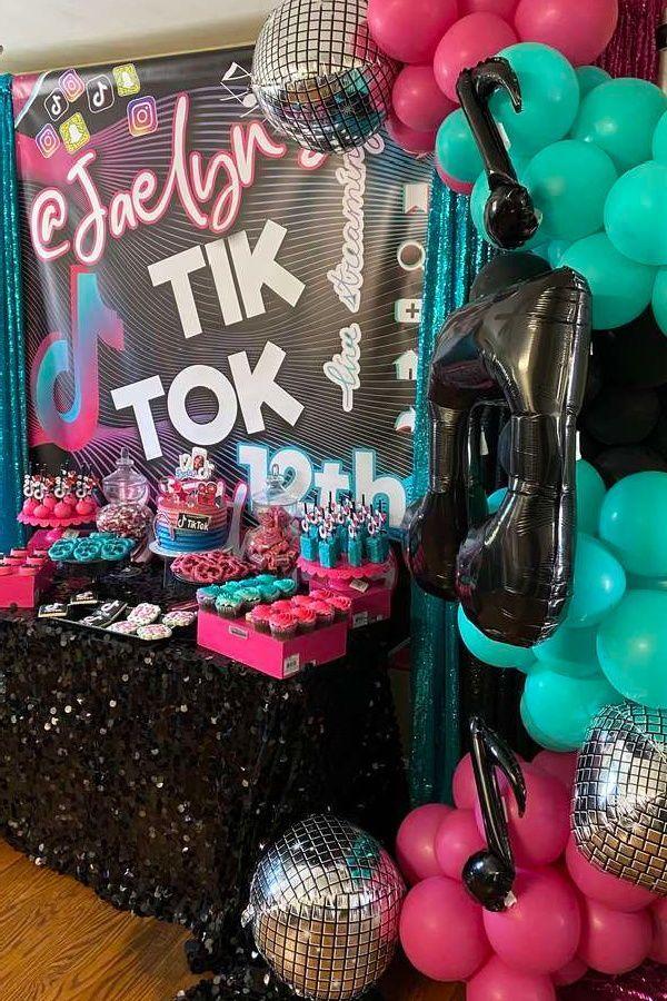 Tiktok Party Themes Sleepover Crafts Party Themes Sleepover Party