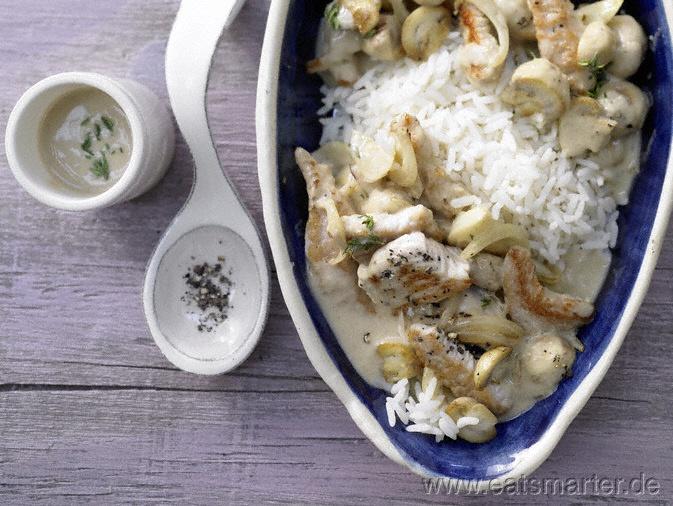 Schnelles Putengeschnetzeltes - smarter - mit Champignons. Kalorien: 670 Kcal | Zeit: 15 min. #fast #recipes