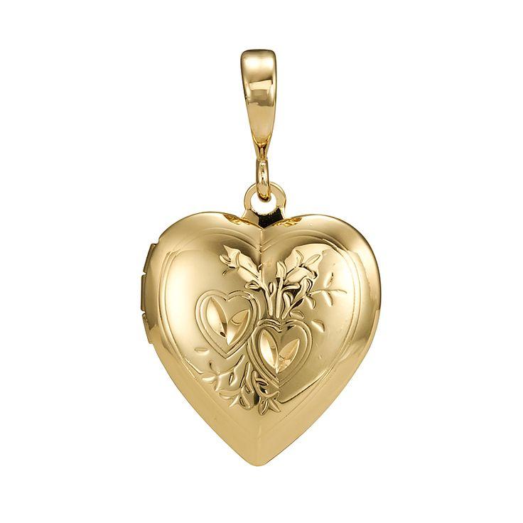 18ct Yellow Gold Layered Heart Locket Pendant | Allure Gold