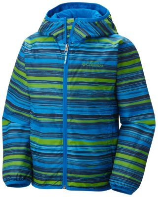 The Columbia Kids Mini Pixel Grabber Wind Jacket is a cozy windbreaker with a water-repellent exterior in tasteful plaids and prints.
