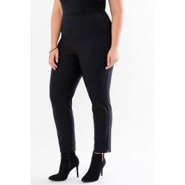 Pull-on Ankle Pants with Hem Slits