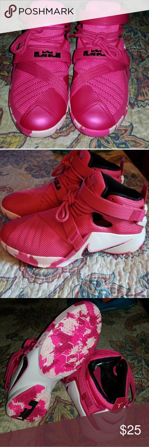 Nike Pink Lebron Shoes Worn lightly Nike Shoes Sneakers