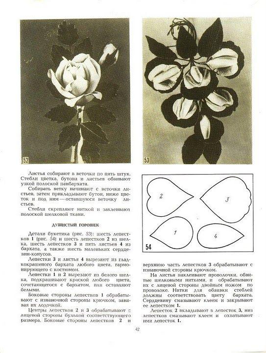 описание изготовления цветов из ткани29