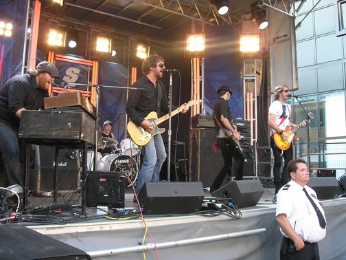 Celebrating the official start of summer. This is the Trews from the Score Street Party in Toronto in 2008 - it was September but it was still a very hot day! Taken by us.