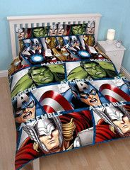 AVENGERS ~ 'Shield' Double/Queen Reversible Bed Quilt Set