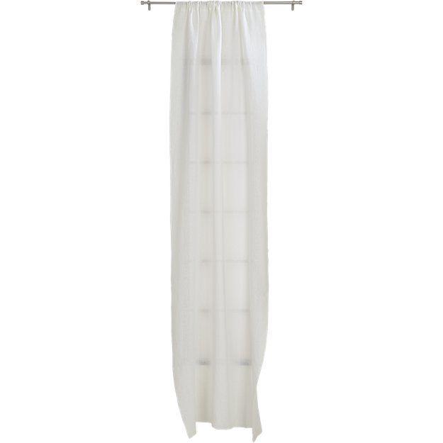 "white linen curtain panel 48""x84""   CB2"