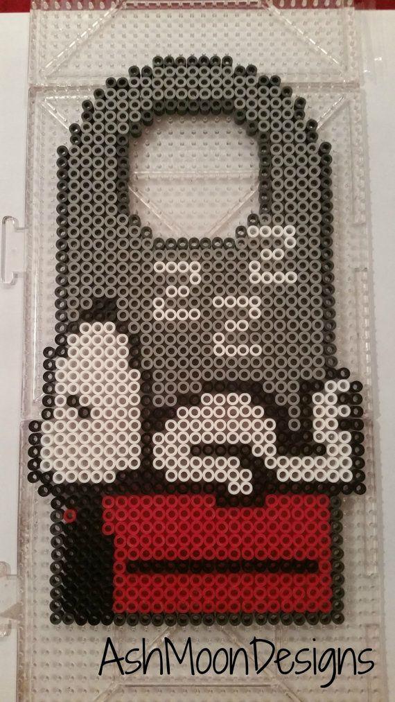 Items op Etsy die op Snoopy Perler Bead deur Hanger lijken