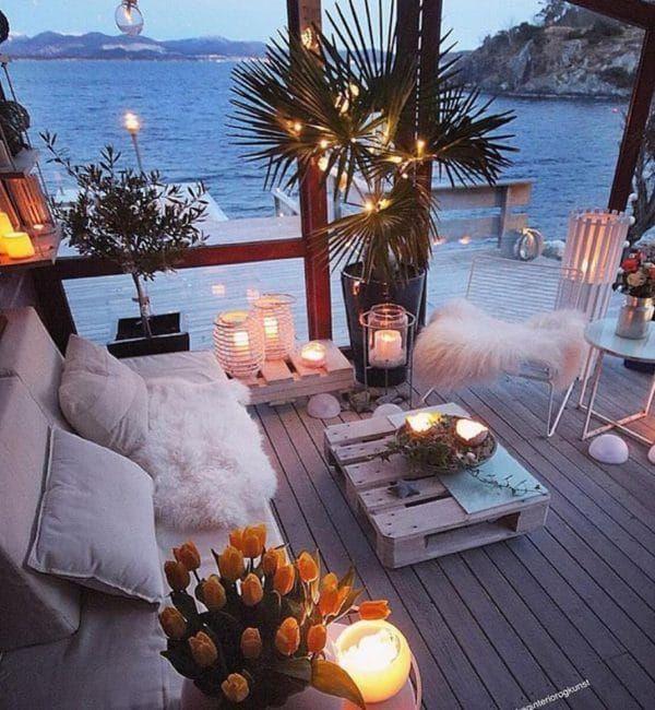 Como Decorar Con Velas La Casa Muero De Amor Por La Deco Outdoor Patio Decor Balcony Decor Patio Decor