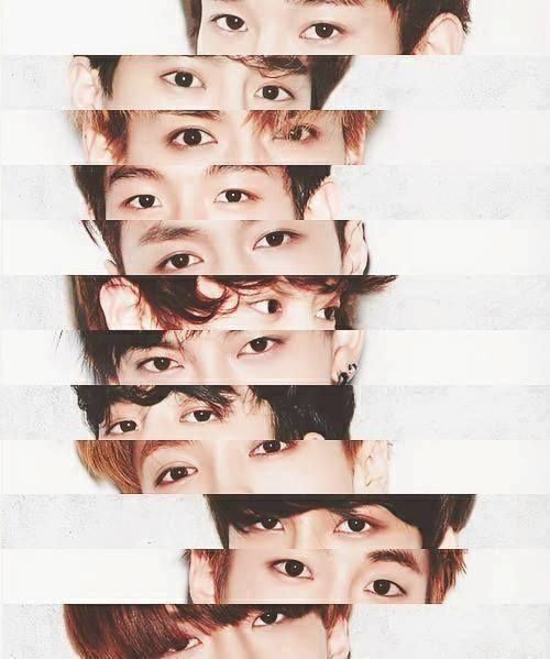 The beautiful eyes of exo