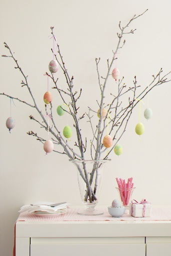 "We always had an ""Easter egg tree"" when I was growing up. Makes me miss my childhood"