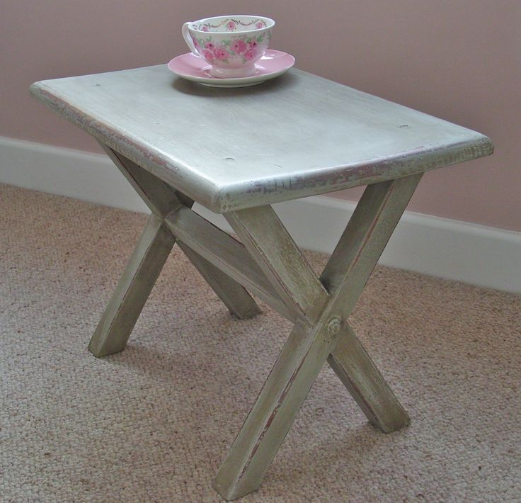 Cute table finished with a dark wax for an aged look