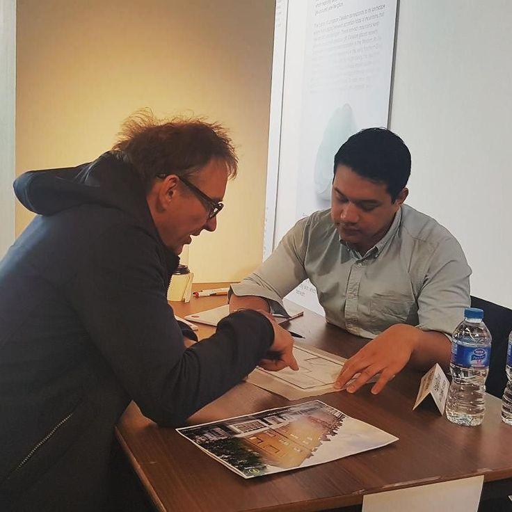 Fabian Danker from NDA running design workshop at NLA #dontmoveimprove #neildusheikoarchitects #newlondonarchitecture #dmi #designworkshop