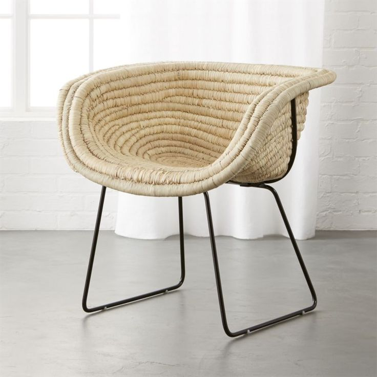 Shop Natural Basket Chair.   Handcrafted by female artisans in a country market outside Jaipur, India, coiled chair offers up natural charm and comfort.