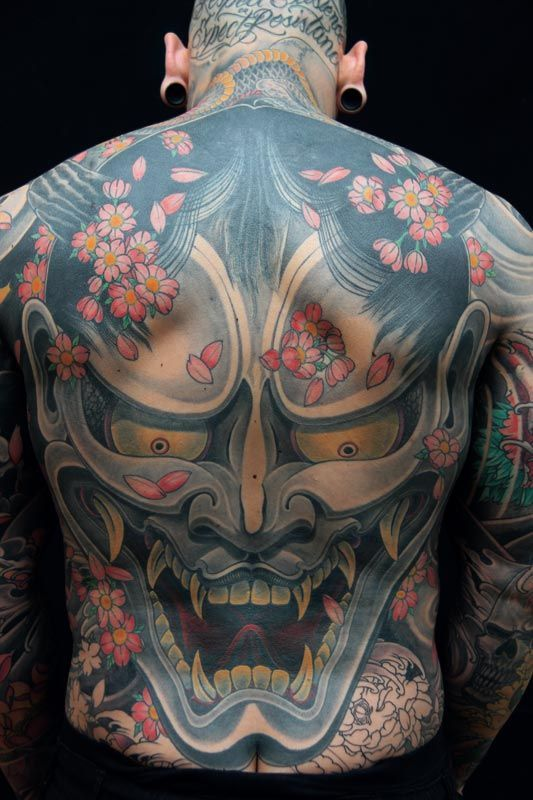 Awesome Hannya Mask Tattoo! #Hannya Mask #Hannya Tattoo www.thehannyamask.com