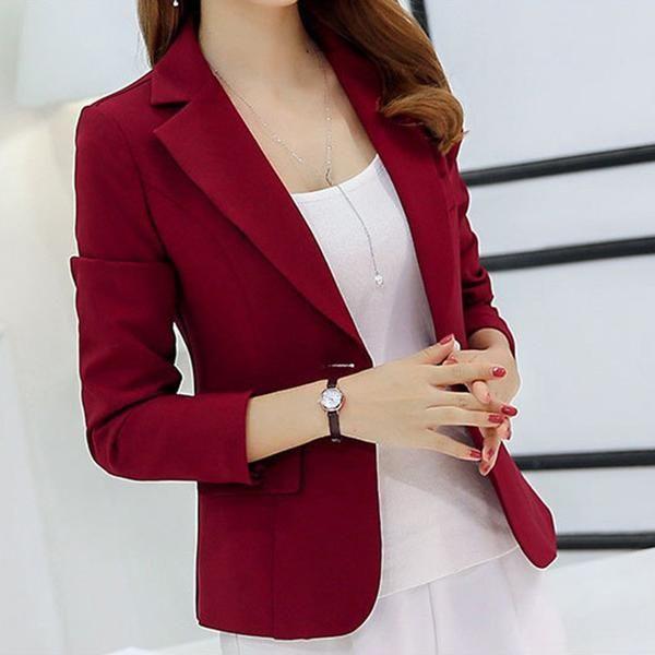 2734643997b Elegant One Button Blazer Jacket! blazers for women