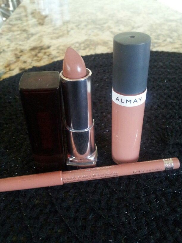 The Perfect Nude Lips: Maybelline Totally Toffee, Almay Rosy Lipped , Rimmel Natural 049