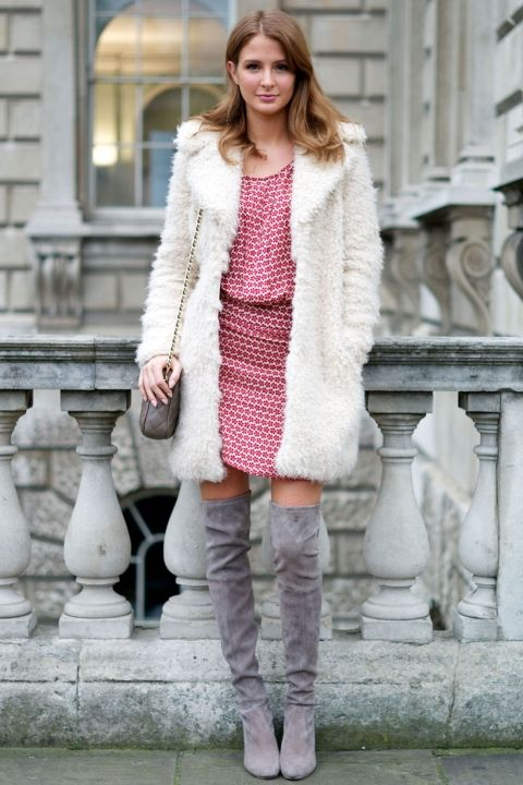 Millie Mackintosh Rocks Knee High Boots For London Fashion Week, 2014