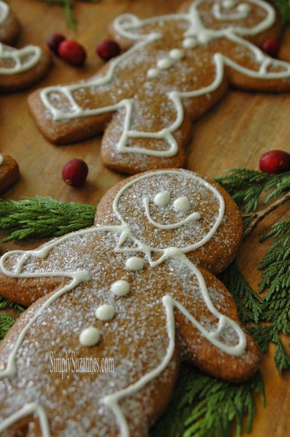 Old-fashioned gingerbread cookies! This is my absolute favorite ...
