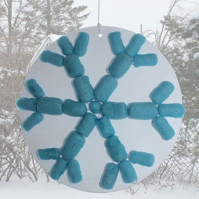 Flocon de neige avec nouilles magiques