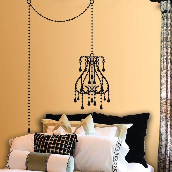 Chandelier Decal Wall Behind Allison S Bed