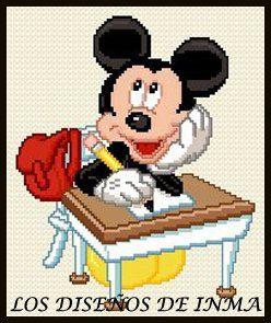 PDF Gráfico Punto de Cruz, Disney 16, Disney Punto de Cruz, Disney, Disney Cross Stitch Pattern