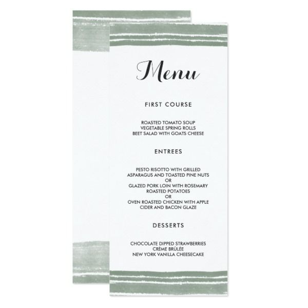 25+ parasta ideaa Pinterestissä Diy wedding menu cards - Menu Word Template