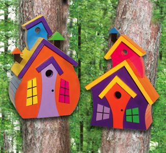 Wild Birdhouses Woodcrafting Plan