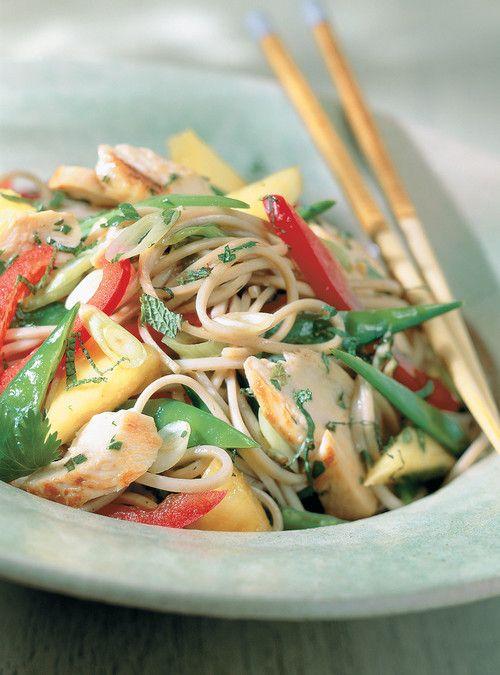 Salade de poulet thaï Recettes   Ricardo