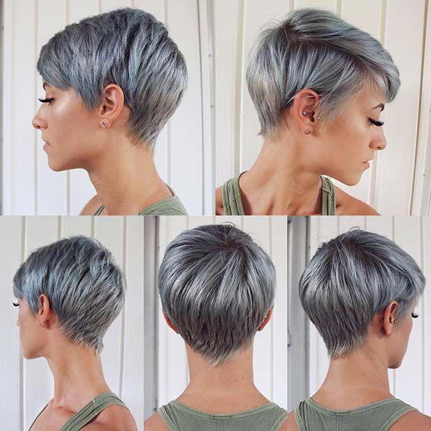 43 Trendy Ways To Wear Short Hair With Bangs Stayglam Short Hair Styles Short Hair With Bangs Short Grey Hair
