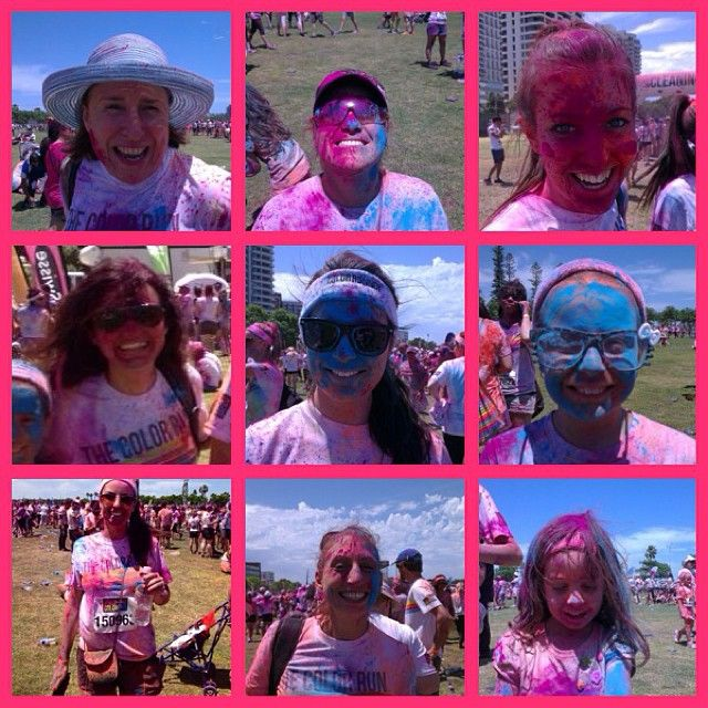Team Motive after the Colour Run :)
