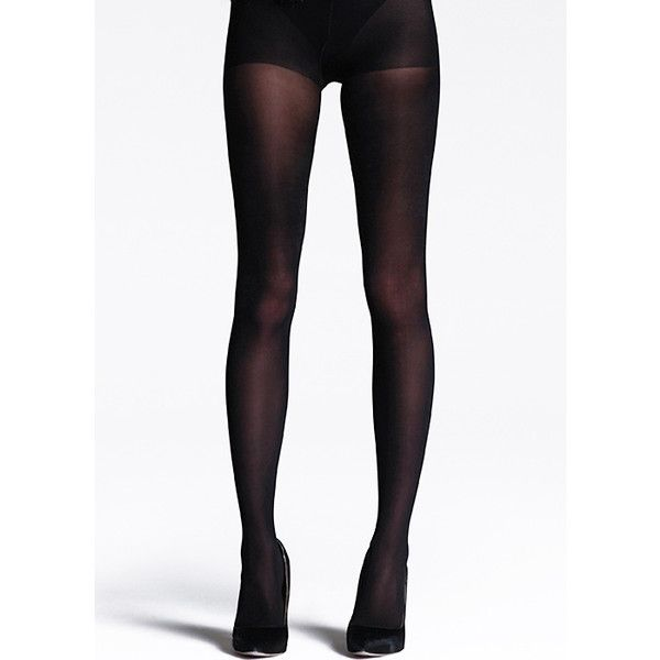 Jonathan Aston 100d Gloss Opaque Tights ($14) ❤ liked on Polyvore featuring intimates, hosiery, tights, opaque pantyhose, shiny tights, wet look stockings, shiny stockings and glossy tights