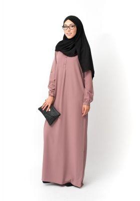 9af087246a73 Robe longue Casual mauve automne hiver vetements hijab femmes voilées  boutique hijab pas cher mode pudique