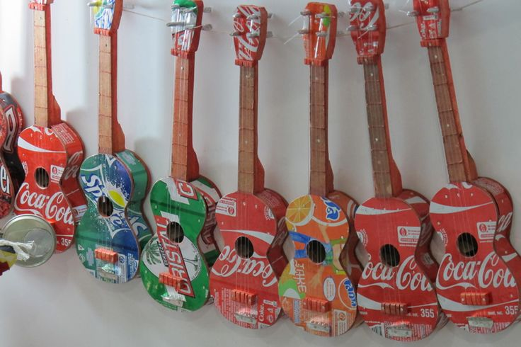 Souvenirs made out of drinks cans - genius!