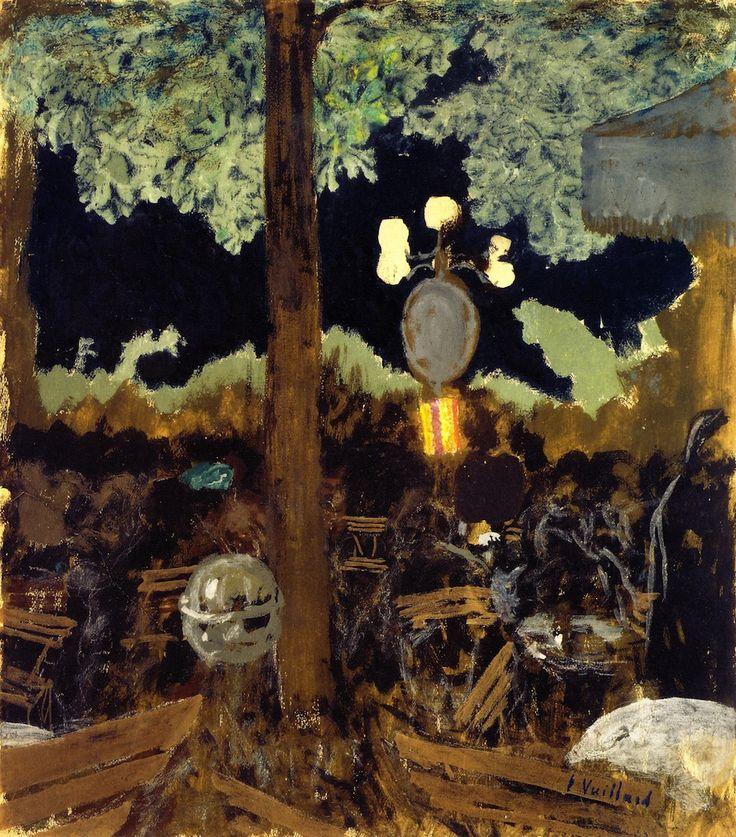 All sizes | Edouard Vuillard - Café in the Bois de Boulogne at Night - The Garden of the Alcazar | Flickr - Photo Sharing!
