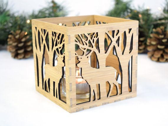Christmas Table Lantern Stag Christmas Decoration by BeamDesigns