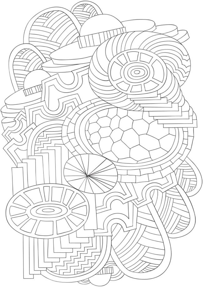 Bliss Dazzle Coloring Book Your Passport To Calm Doverpublications Abstract Coloring Pages Coloring Books Owl Tattoo Sleeve